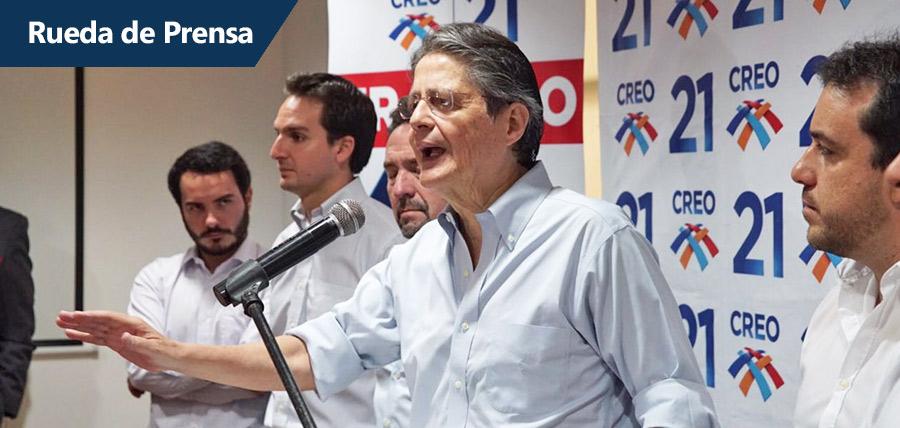 """Lasso: """"el decrecimiento económico es producto  de la administración de Alianza País"""""""