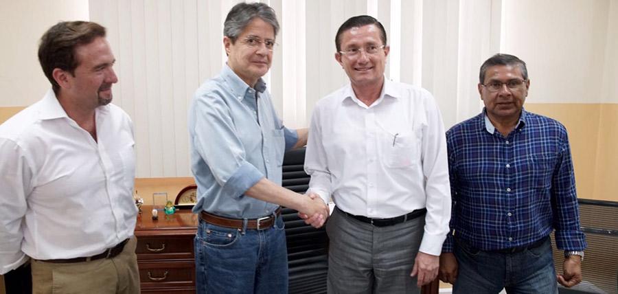 Lasso se reunió con el  Alcalde de Portoviejo