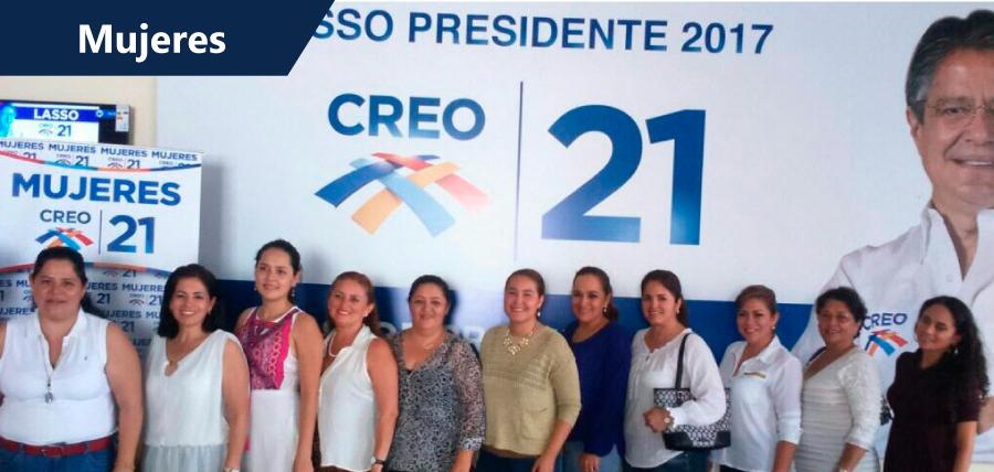 Mujeres CREO activa su estructura política