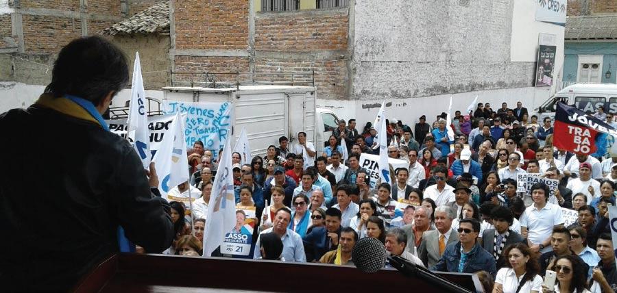 Lasso llevó su propuesta de cambio a Tungurahua