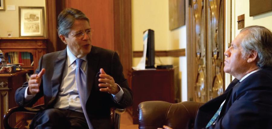 En reunión con Almagro Lasso pidió que la OEA sea veedora en comicios del 2017