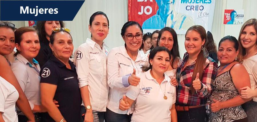 CREO posesionó directivas de Mujeres en El Oro