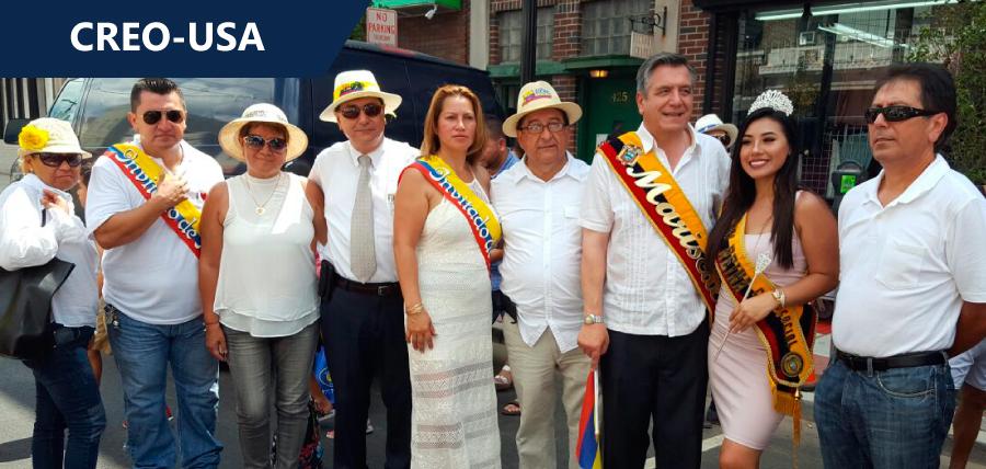 Donoso participó en desfile de Ecuatorianos en New Jersey