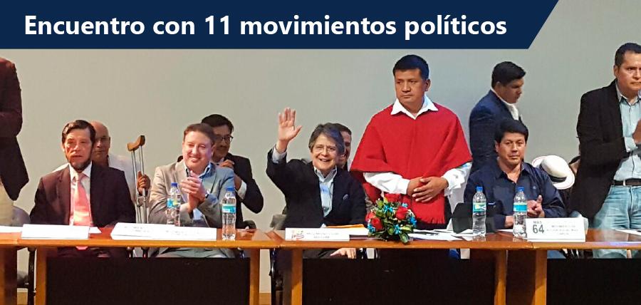 Guillermo Lasso participa en encuentro con 11 movimientos políticos