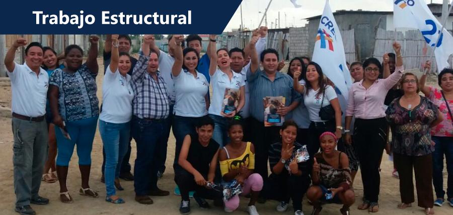 La estructura de CREO multiplica el mensaje de Guillermo Lasso