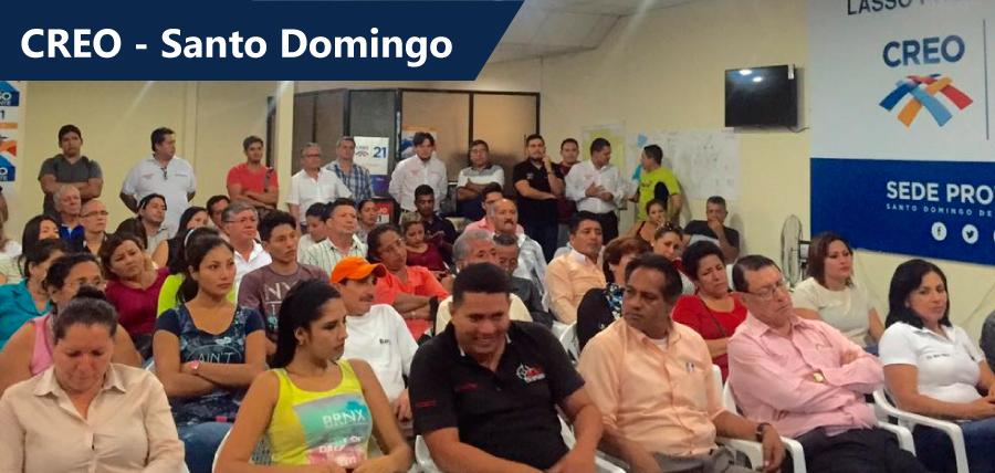 Santo Domingo recibirá al máximo líder de CREO