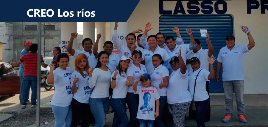 Militancia de Los Ríos lleva mensaje de Lasso a la provincia