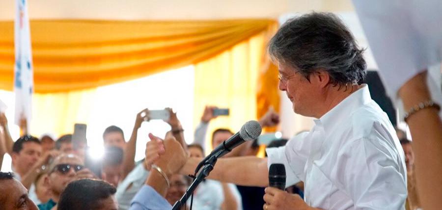 Guillermo Lasso se compromete a trabajar por la reconstrucción de Manabí y del Ecuador