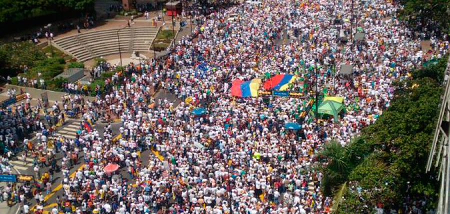Solidaridad con el pueblo venezolano en la lucha por la democracia y libertad