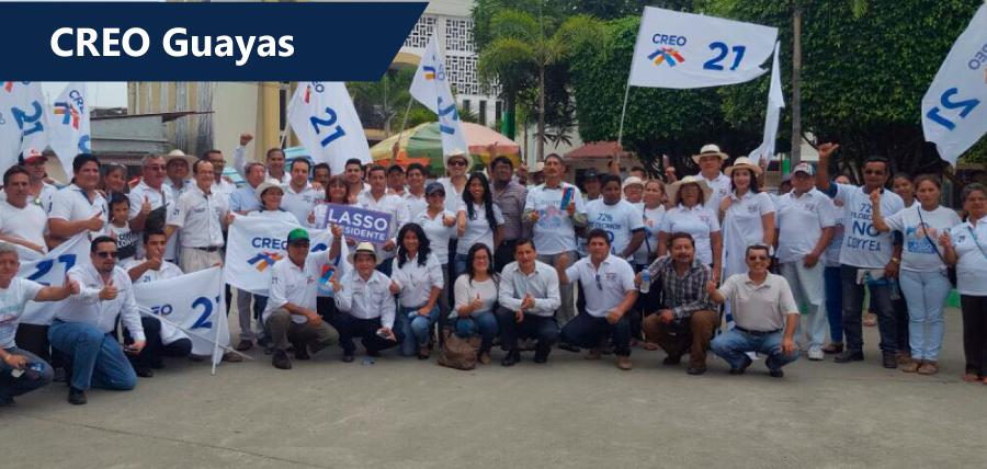 La estructura de CREO Guayas se activó en toda la provincia