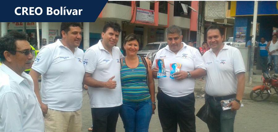 Mensaje de Lasso se replica en la provincia de Bolívar