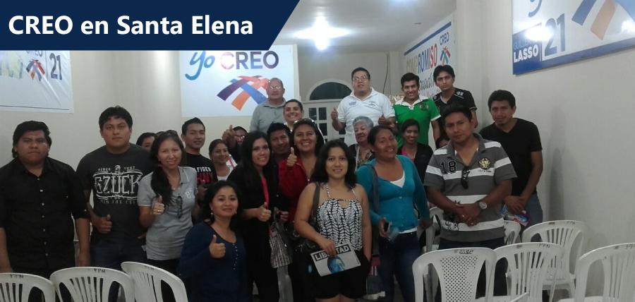 CREO trabaja en las comunas y parroquias de Santa Elena