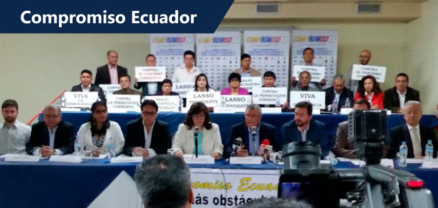Compromiso Ecuador mostró su respaldo a Guillermo Lasso