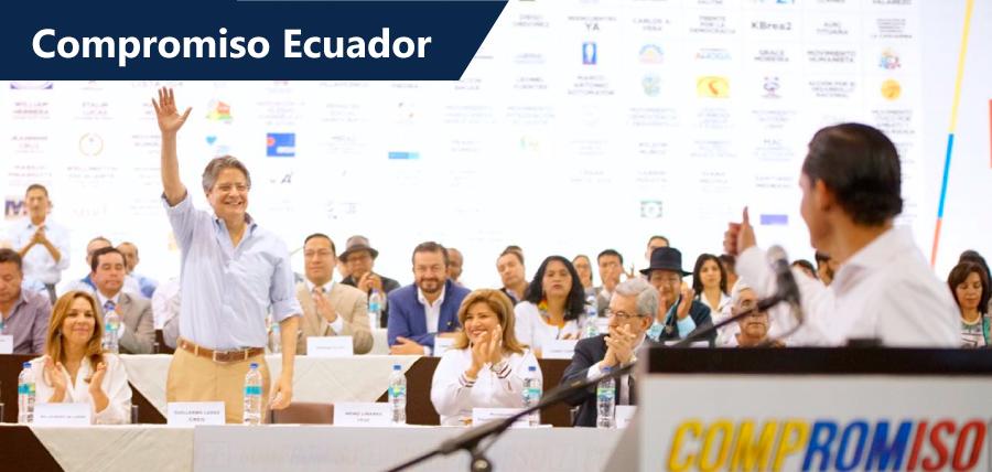 Compromiso Ecuador definió oficialmente a Lasso como su candidato a la Presidencia de la República