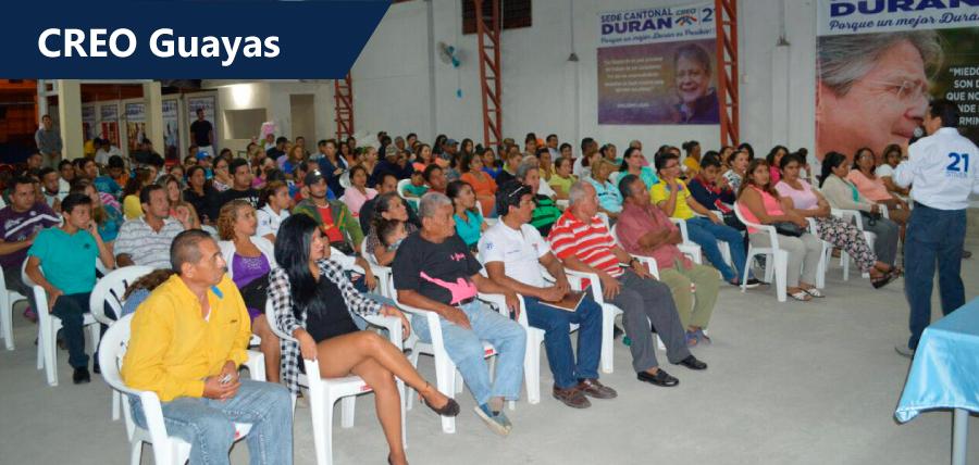 Caminatas y visitas a cantones marcan el trabajo territorial de CREO Guayas