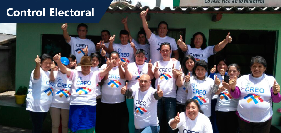CREO trabaja en la red de Control Electoral más grande del Ecuador
