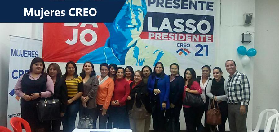 Mujeres de todo el país apoyaron a Guillermo Lasso