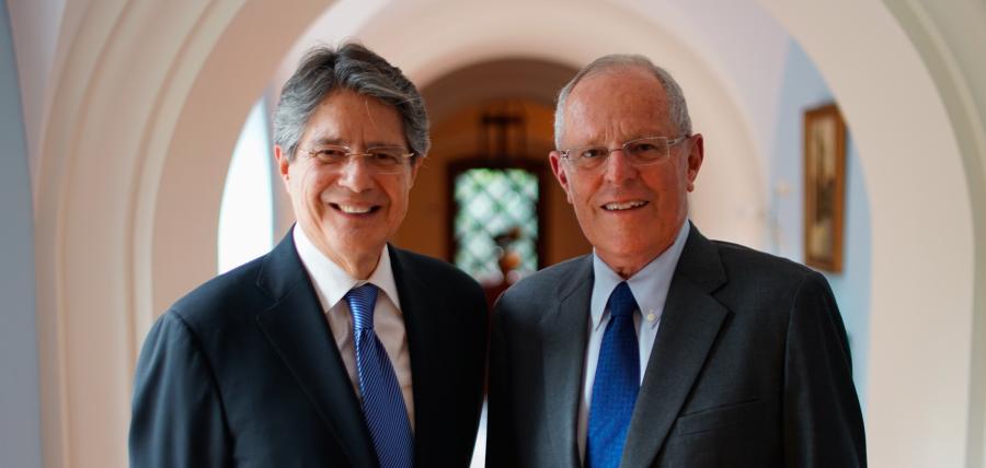 Lasso se reunió con el Presidente peruano