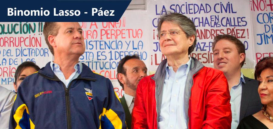 Páez será el compañero de Lasso en su camino a Carondelet