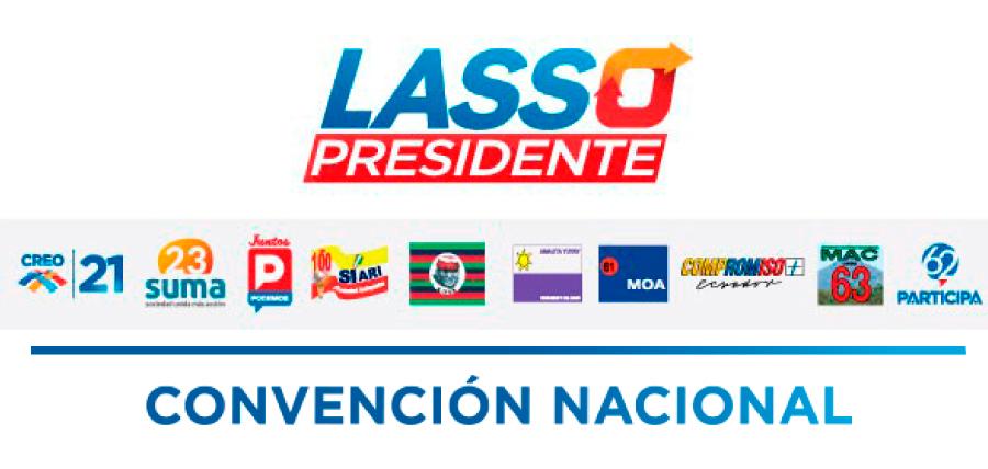 La Alianza por el Cambio Liderada por Lasso presentará sus candidatos en Convención Nacional