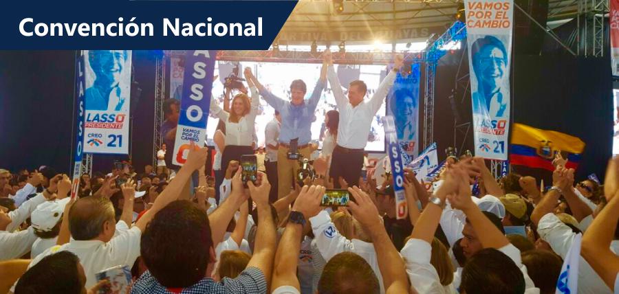 «Lasso y candidatos de la unidad por el cambio fueron proclamados «