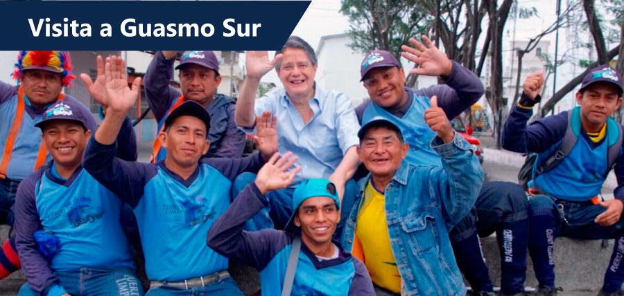 Guillermo Lasso recorrió mercado Las Esclusas
