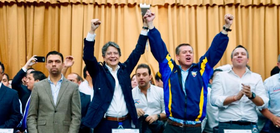 Lasso y Páez inscriben su binomio de la unidad por el cambio