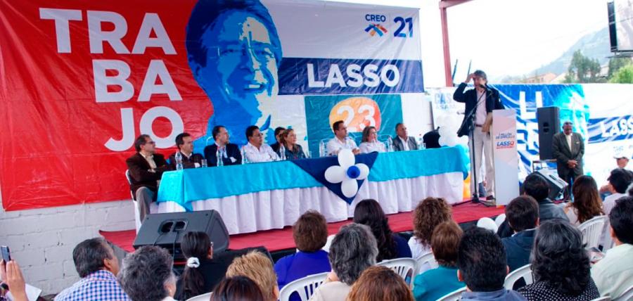 Lasso presentó a los candidatos del cambio por Azuay y Cañar