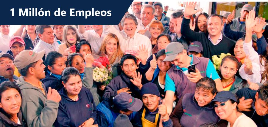 Lasso presentó su plan un millón de empleos en Quito