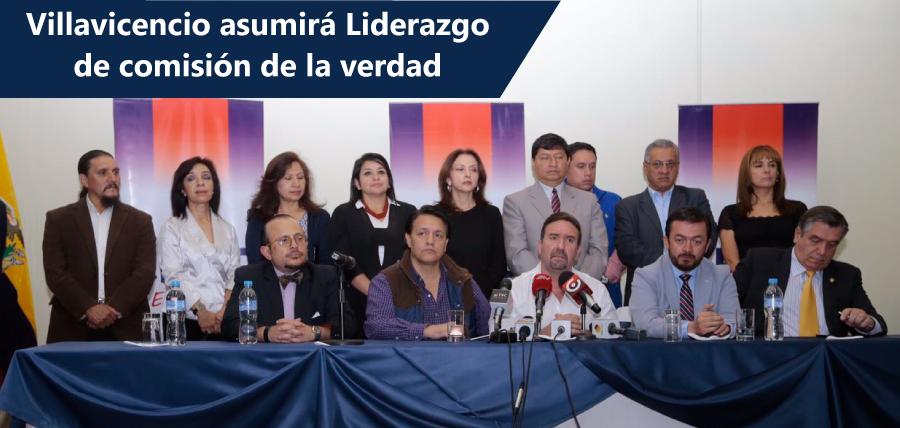 Villavicencio asumirá el liderazgo de la comisión de la verdad y Villamar fortalecerá la lucha anticorrupción en la Asamblea