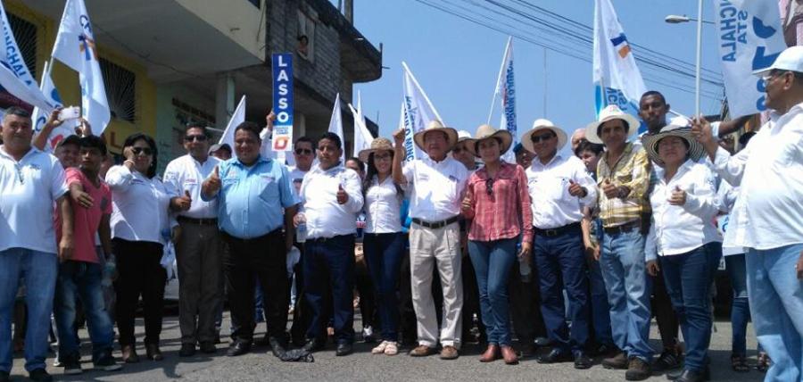 Candidatos de  CREO – SUMA recorrieron la provincia del Guayas