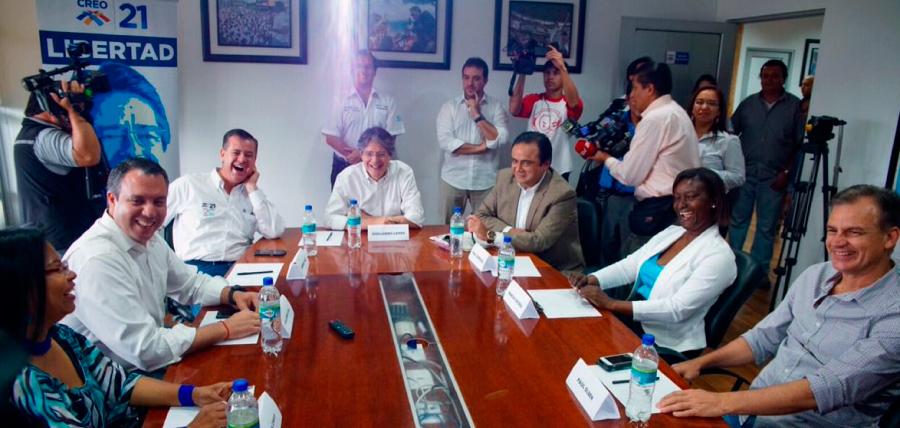 Lasso en reunión estratégica con los miembros de la Unidad por el Cambio
