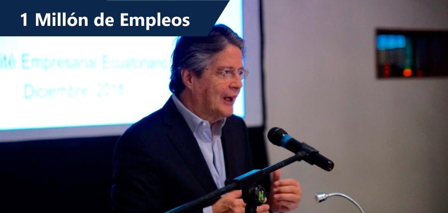 1 Millón de Empleos, la meta del encuentro entre Lasso y Empresarios