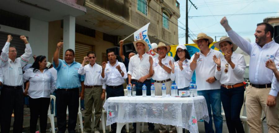 Entre caravana y recorridos candidatos visitaron el distrito 4 en Guayas