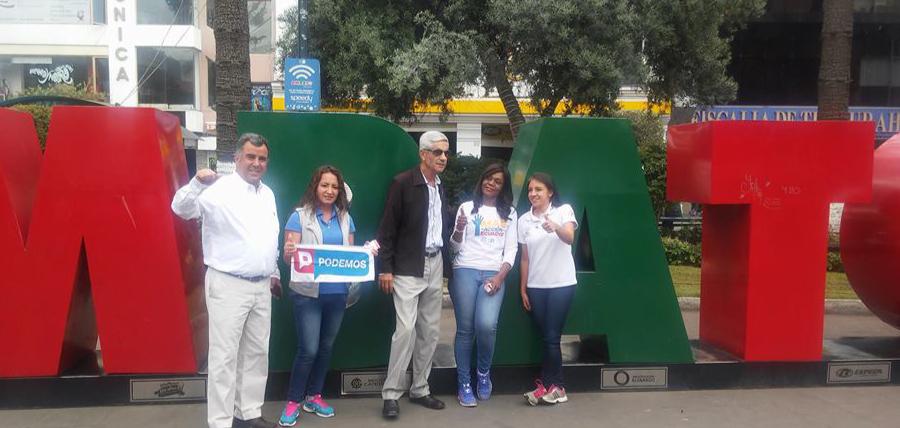 Mae Montaño recorre Ambato junto a asambleístas por Tungurahua