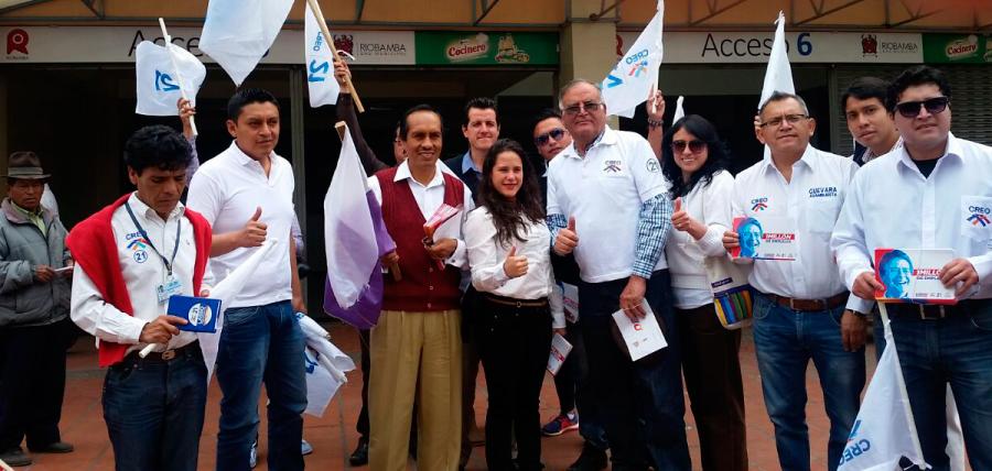Los candidatos de la Alianza CREO 21 – SUMA 23 – Amauta Yuyay 66 recorrieron Riobamba