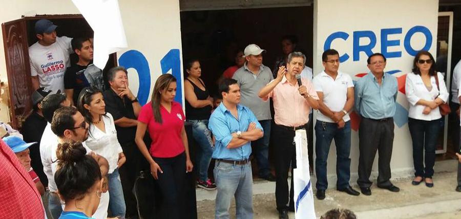 Inauguración de centrales y presentación de candidatos en Loja