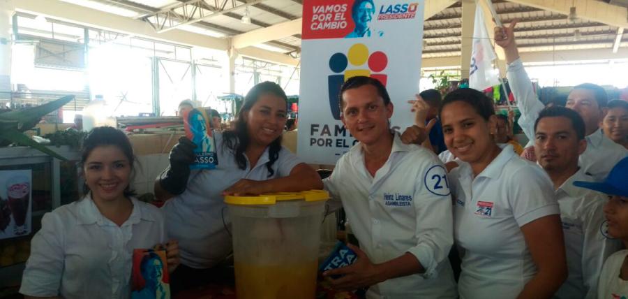 Candidatos de la alianza CREO 21- SUMA 23 recorrieron el sur de Guayaquil
