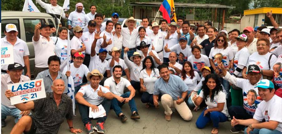 Juan Pablo Hidalgo recorrió cantones del Guayas