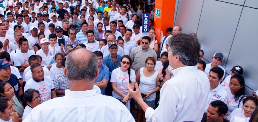 Lasso llega a Orellana y fortalece su propuesta de 1 Millón de Empleos