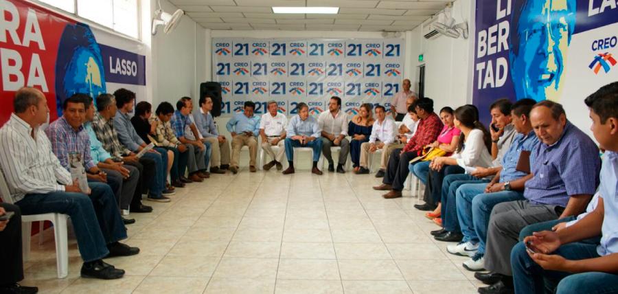 Lasso planificó la estrategia en la provincia del Guayas