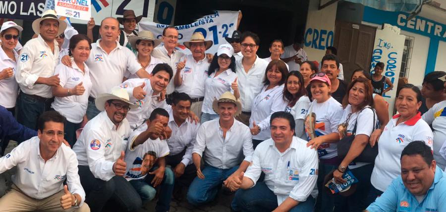 El candidato a la Asamblea  Nacional Fernando Burbano realizó una caminata en Milagro