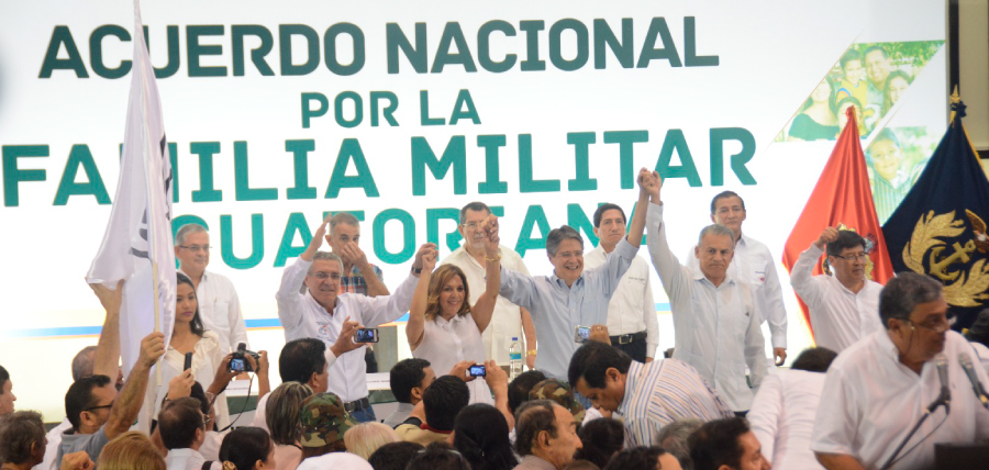 La Familia Militar Ecuatoriana respalda a Guillermo Lasso