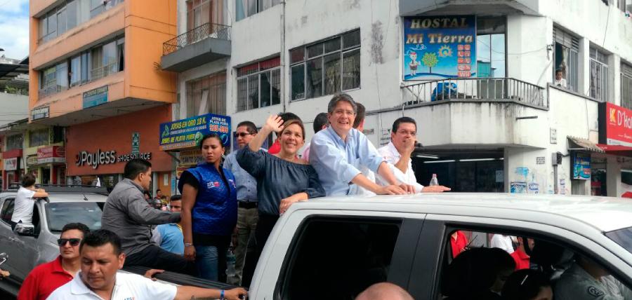 Santo Domingo mostró su total respaldo a Lasso