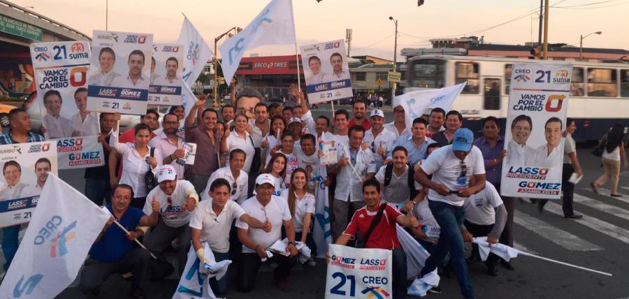 Candidatos recorren el Distrito 3 de Guayas llevando las propuestas de Lasso