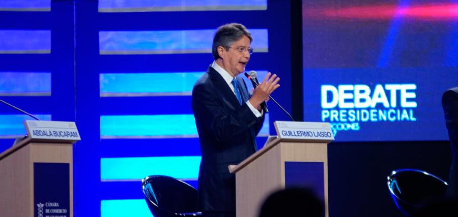 Lasso líder de la oposición en Debate Presidencial 2017
