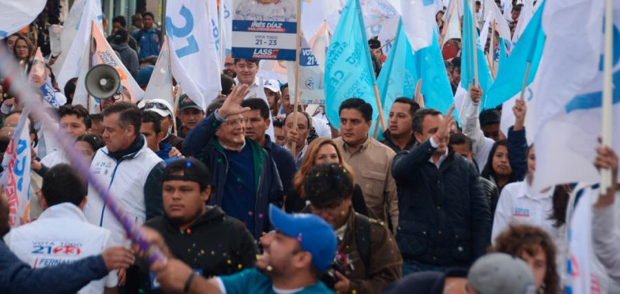 Multitudinario apoyo recibió Lasso al norte de Quito