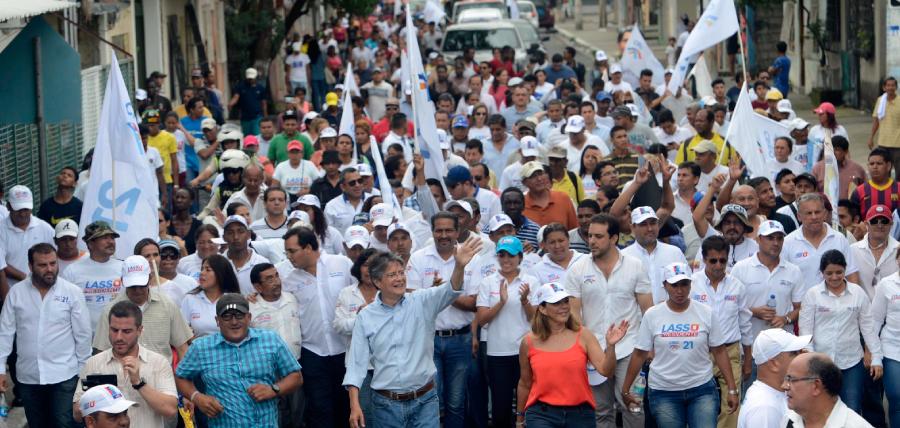 El Sur de Guayaquil acogió a Guillermo Lasso