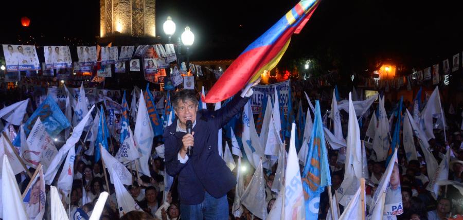 Con caravana y evento masivo Loja recibió a Lasso