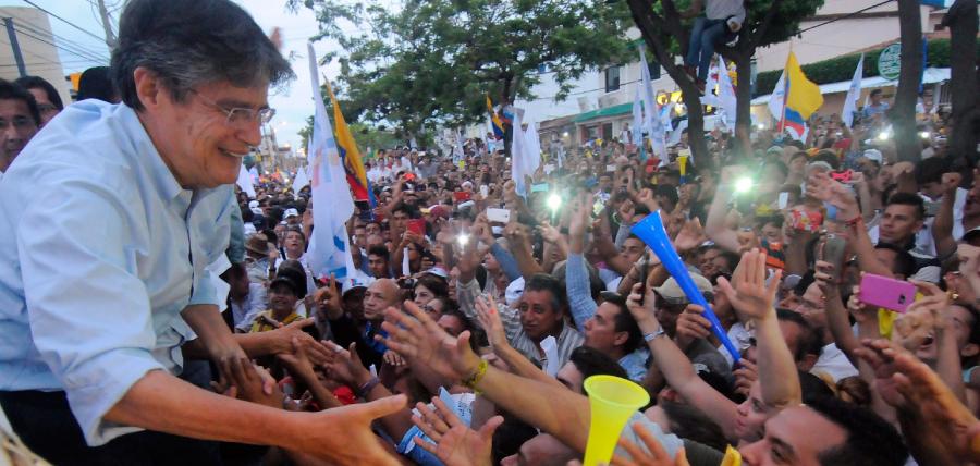 Lasso agradeció a los guayaquileños el apoyo para exigir transparencia
